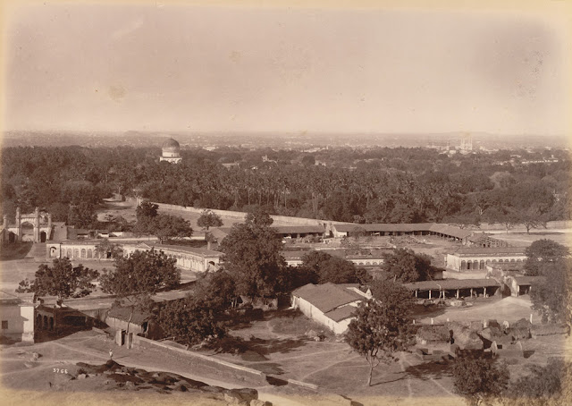 *Distant view of City, Hyderabad; a photo by Lala Deen Dayal, 1880's