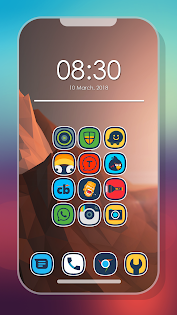 Erimo - Icon Pack Aplikace pro Android screenshot