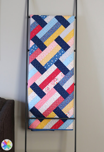 Fast Track quilt pattern - a modern strip quilt by A Bright Corner - fat quarter quilt pattern also great for jelly rolls and layer cakes