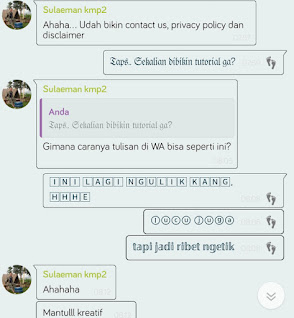 Cara Membuat Tulisan Keren di Whatsapp