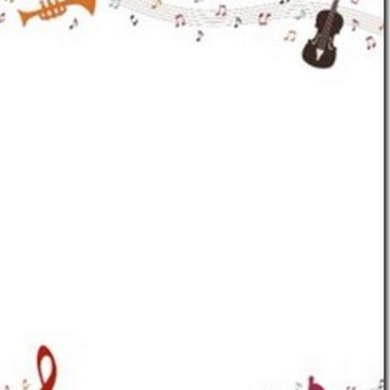 Bordes y marcos de música para niños