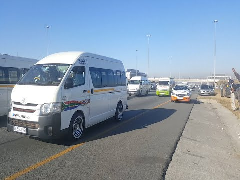 Anger and frustration boiled over on Monday morning when Johannesburg commuters were caught up in a huge Santaco taxi strike. Picture: SUPPLIED