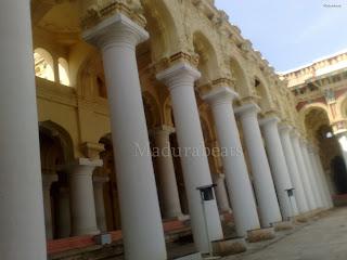 Thirumalai Nayakkar Palace pillars