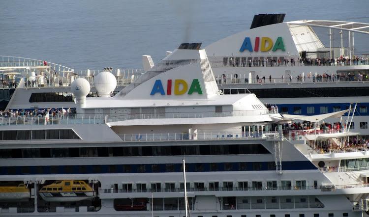 AIDA Cruises ship funnels