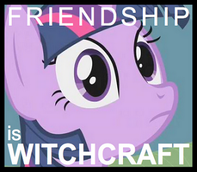 Logo no-oficial de Friendship is Witchcraft