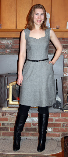 StyleArc Layla (with Sewaholic Cambie skirt). Mini houndstooth wool suiting