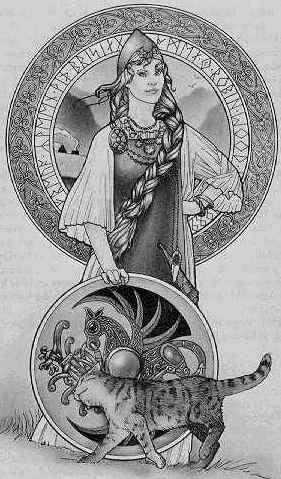 Goddess Freya At Yule, Gods And Goddesses 1