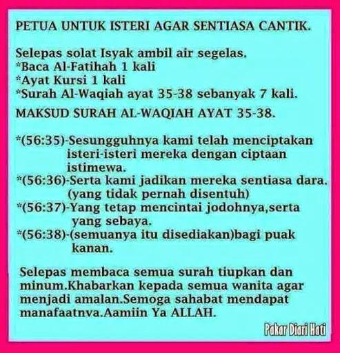 Untuk Isteri ww   Petua Untuk Isteri Agar