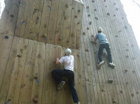 Heading up the wall