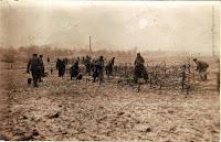 German Pioneers raising barbed wires