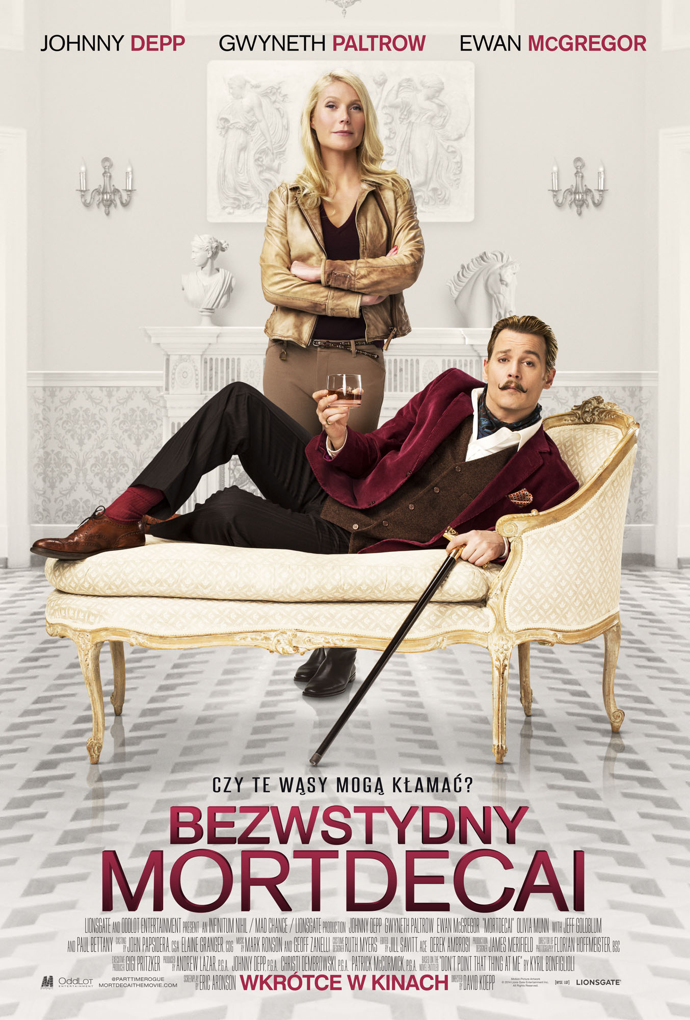 Polski plakat filmu 'Bezwstydny Mordecai'