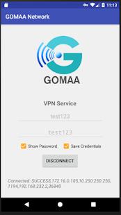 GOMAA Network VPN - náhled