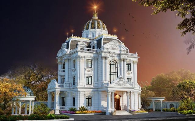 Phối cảnh kiến trúc tòa nhà cổ điển châu Âu tại Hà Nội