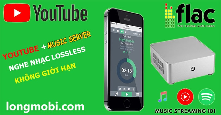 nghe nhac youtube va music server