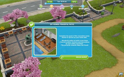 DIY Homes: Peaceful Patio   The Sims FreePlay Walkthrough   Pinguïntech