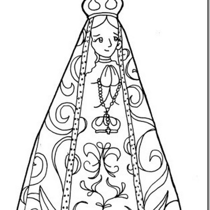 Colorear Virgen del Valle de Catamarca