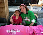 Niblette and I working in the Pink Honor Roll tent.