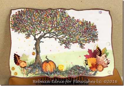 fall tree shaped card