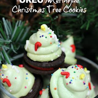 OREO Meringue Christmas Tree Cookies