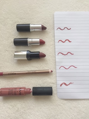 Autumn lip products swatches