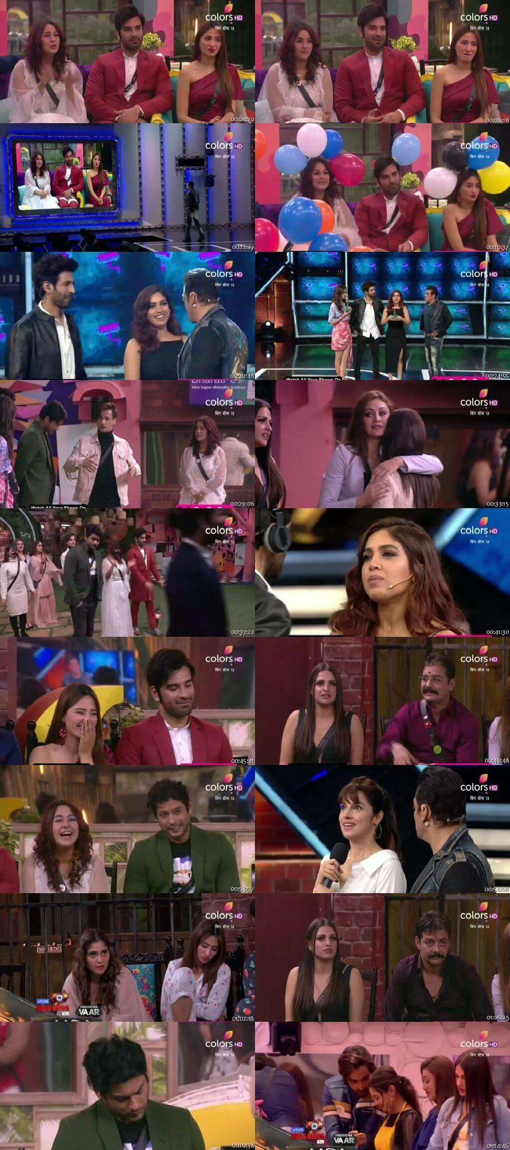 Screenshots Of Hindi Show Bigg Boss 13 1st December 2019 Episode 62 300MB 480P HD