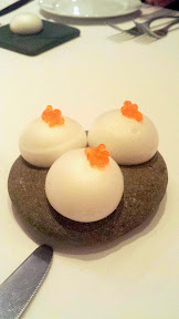 Castagna Snax: Puff with egg salad and trout roe from Castagna Restaurant