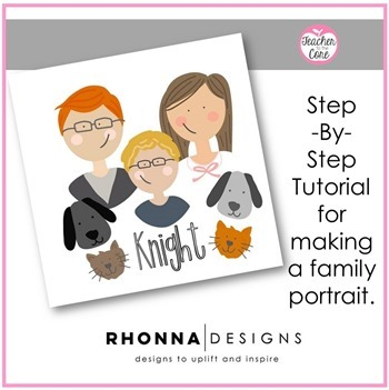 How To Make a Family Portrait using the Rhonna Designs App