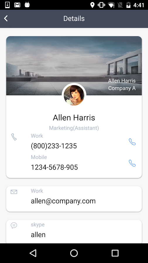 TeamContacts Admin- screenshot