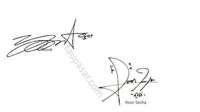 tanda tangan huruf z