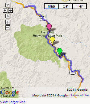 Map Of California Redwoods.Scenic Driving Tours