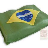 16. kép: Céges torták - Brazil zászló torta