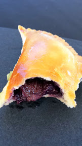 Blueberry and blue cheese empanada with ginger and green onion chimmi at the Lifewise Oregon Berry Festival Gala Berry Dinner 2015