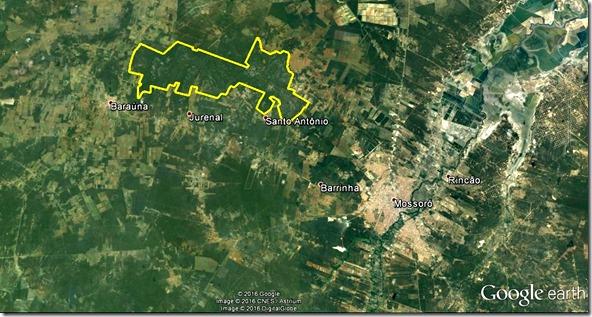 Mapa do Parque Nacional da Furna Feia
