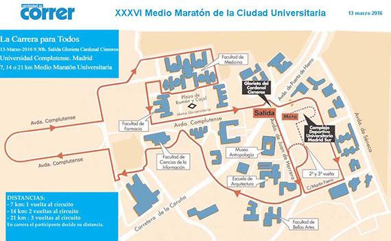 Medio Maratón de la Ciudad Universitaria, domingo 13 de marzo 2016