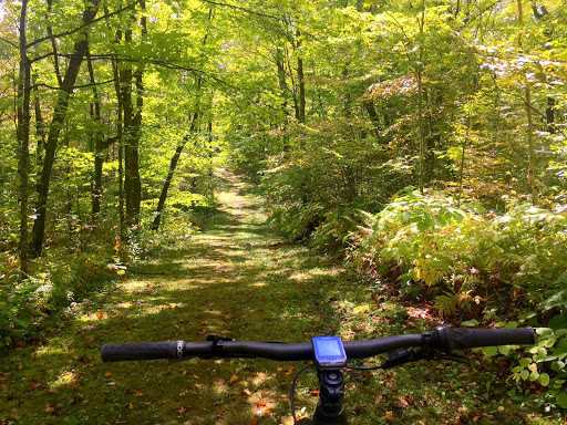 Ski trail segment on bike course. September 16th.