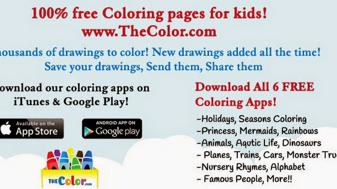 Free Online Coloring Pages www.TheColor.com - Google+