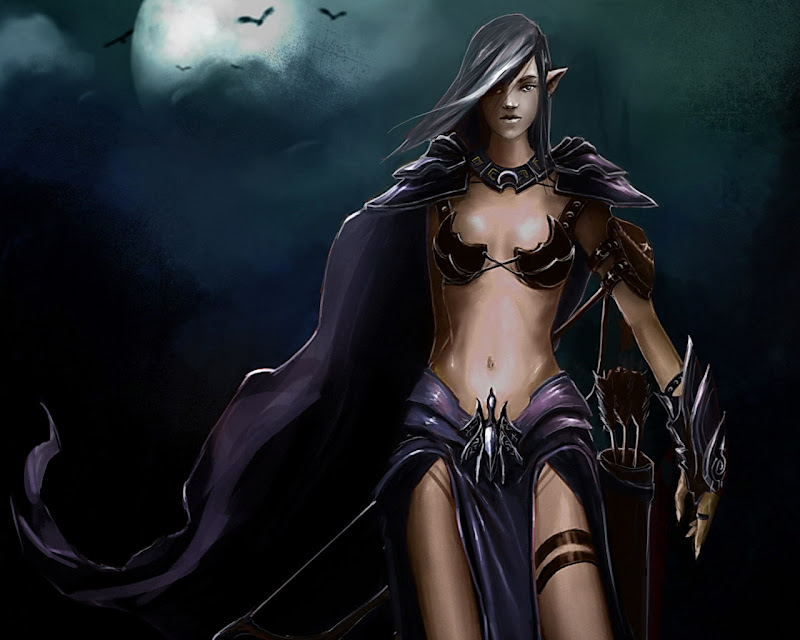 Dark Elf Warrior, Elven Girls 2