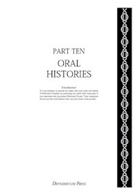 Cover of Reformed Druids's Book Anthology 10 Oral Histories