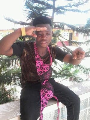 Meet The 21years Old Rapper, Olaide Ayoola aka 2 Short who goes around town with a Size 32 Bra on his Neck!!!