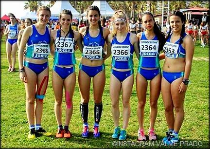 Equipo Juvenil Femenino ( Maria Sobrino, Valme Prado, Ana Moreno, Rocio Plaza, Nuria Roldan y Maria Martinez)