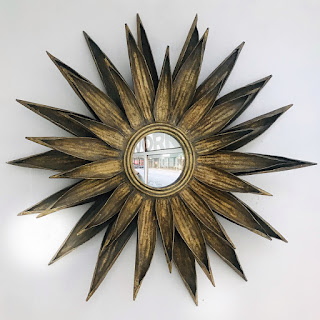 Mid-Century Modern Sunburst Mirror