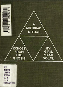 Cover of George Robert Stowe Mead's Book Echoes From The Gnosis Vol VI A Mithriac Ritual