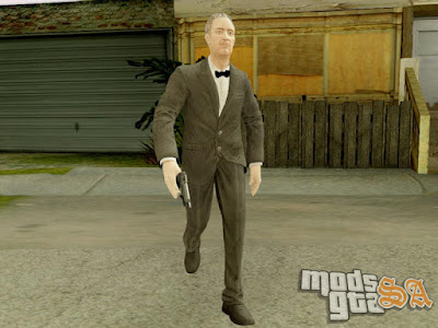 Skin Alfred do Batman Arkham Origins para GTA San Andreas