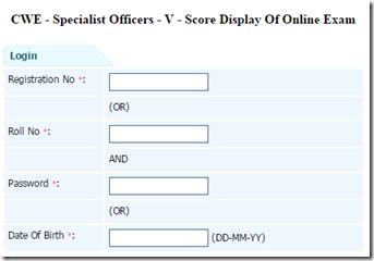 IBPS SO Score /marks