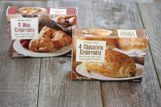 photo of two packages of frozen croissants