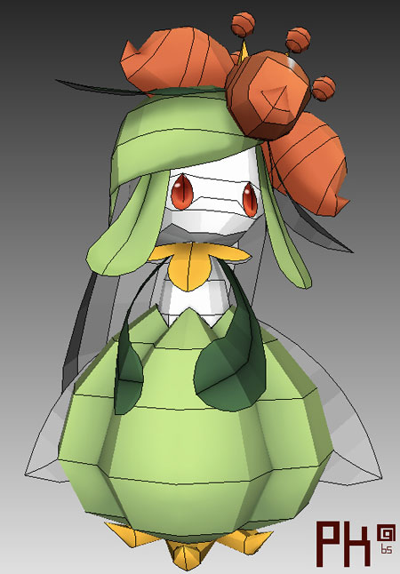 Pokemon Lilligant Papercraft