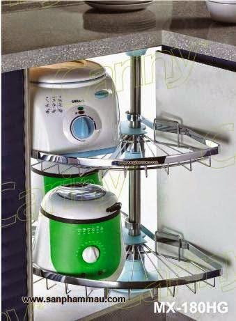 Phụ kiện inox lắp góc tủ bếp