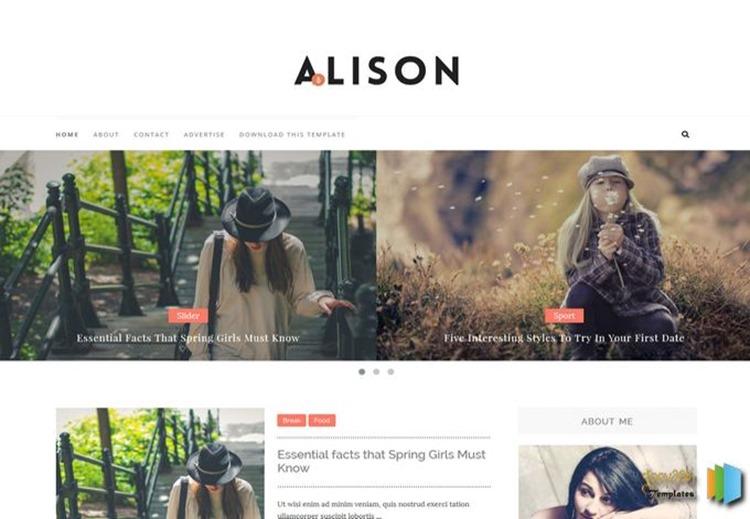 Alison-Blogger-Template