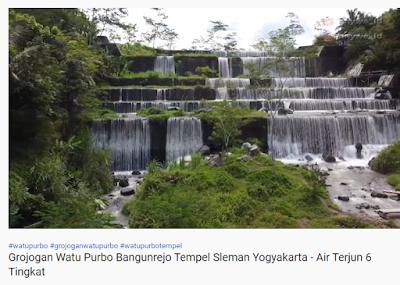 Grojogan Watu Purbo Bangunrejo Tempel Sleman Yogyakarta - Air Terjun 6 Tingkat - Youtube anywe_id