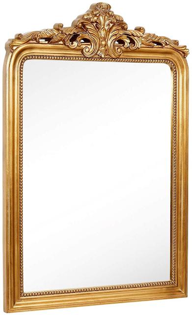 Baroque gold wall mirror